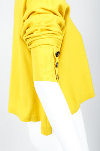 Vintage Sonia Rykiel Yellow Bow Collared Swing Sweater on Mannequin Pushed Sleeve at Recess
