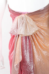 Recess Los Angeles Vintage Soo Yung Lee Iridescent Ombre Lamé Strapless Gown