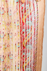 Vintage St. Piel Sheer Silk Chiffon Stripe Sarong Dress fabric detail at Recess