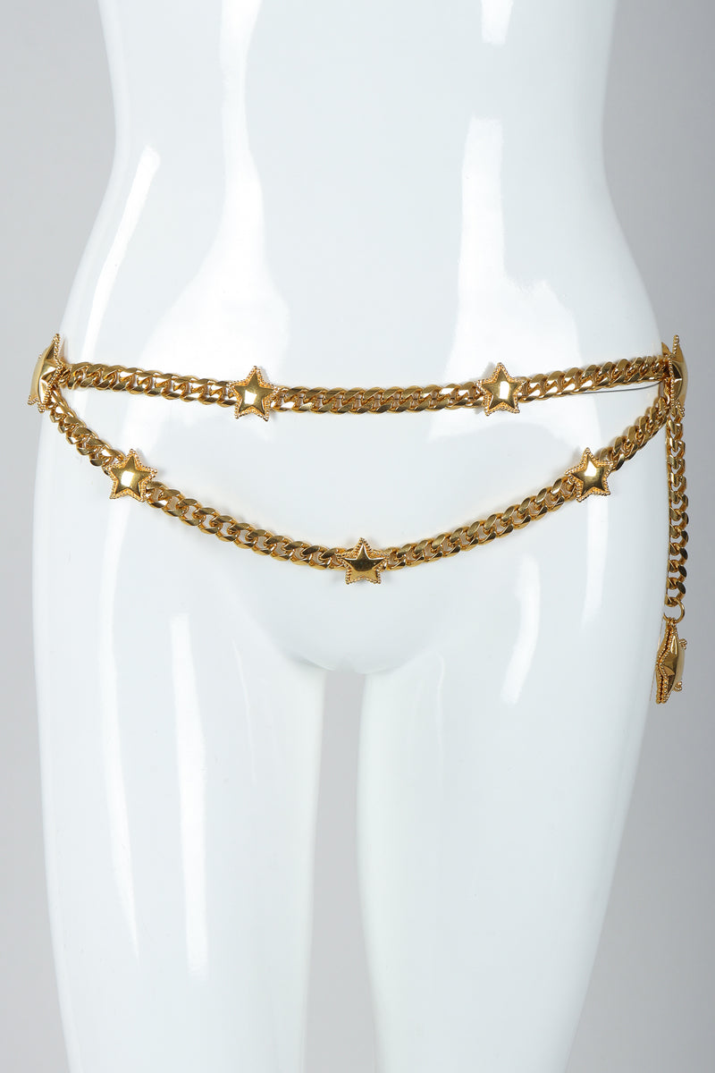 Vintage St. John Starry Draped Chain Belt on Mannequin Hip at Recess Los Angeles