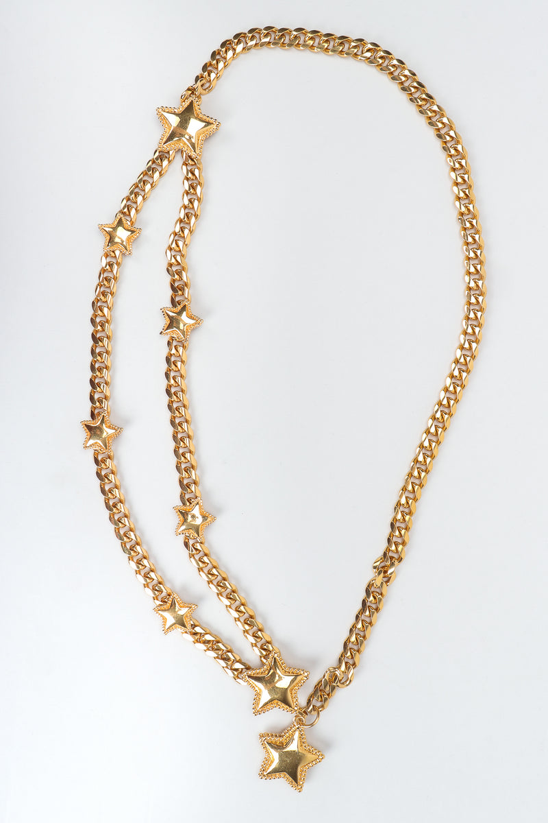 Vintage St. John Starry Draped Chain Belt on white background at Recess Los Angeles