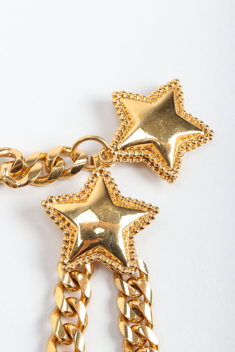 Vintage St. John Starry Draped Chain Belt star detail at Recess Los Angeles