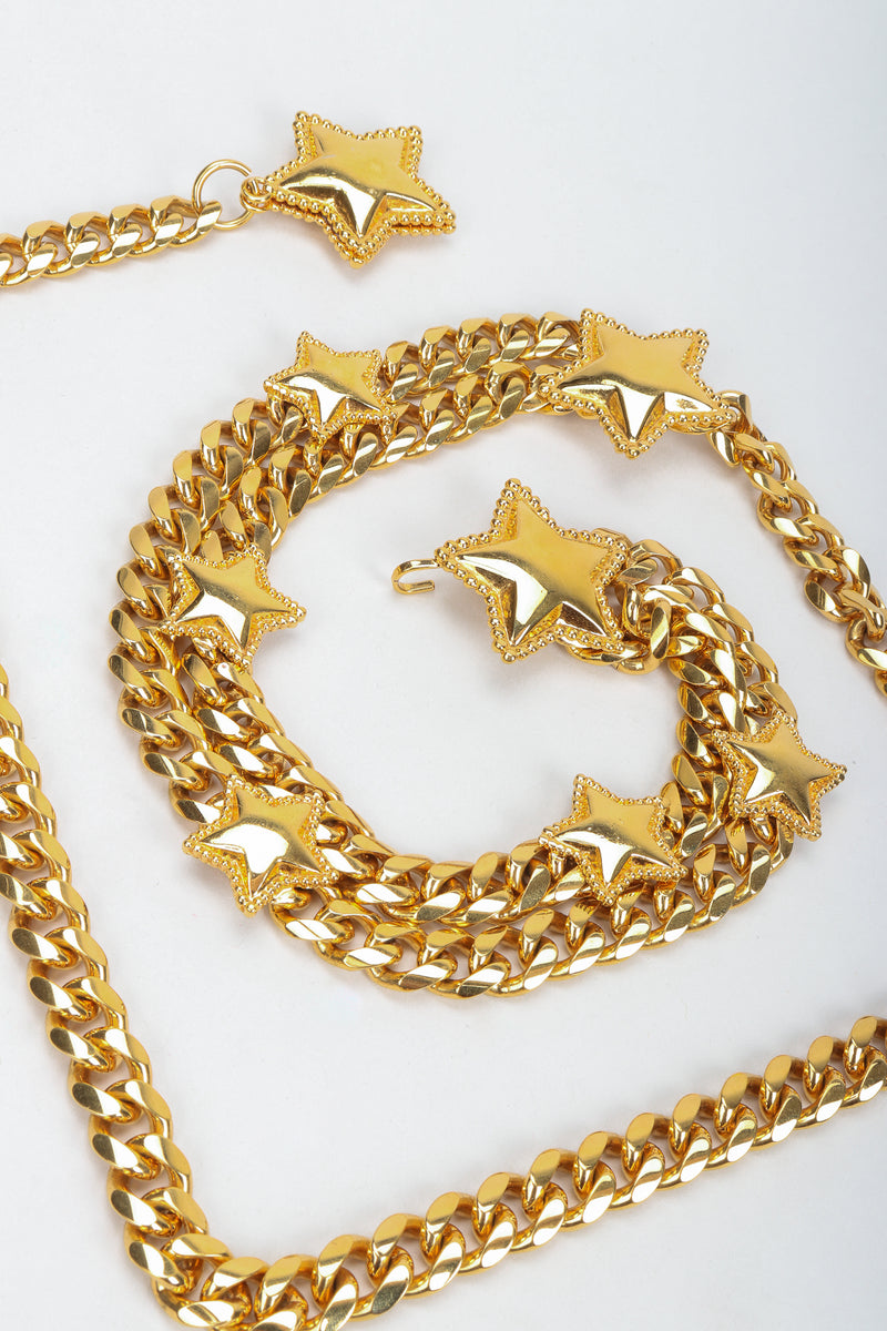 Vintage St. John Starry Draped Chain Belt, coiled close up at Recess Los Angeles