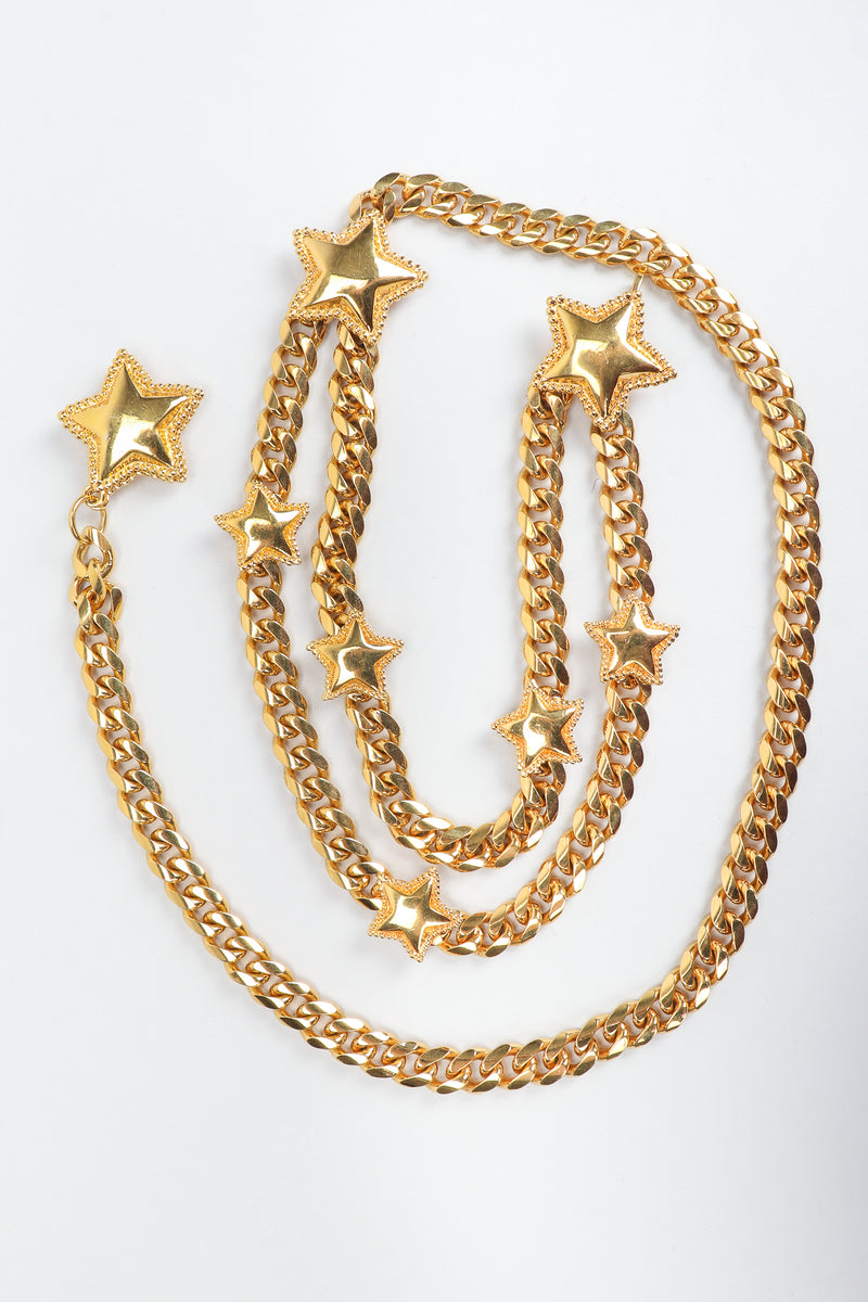 Vintage St. John Starry Draped Chain Belt, on white at Recess Los Angeles
