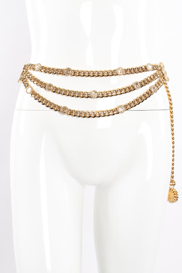 Vintage St John Chunky Triple-Strand Chain Belt II on Mannequin at Recess Los Angeles