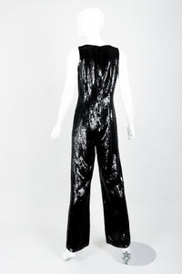 St. John Black Liquid Sequin Jumpsuit on Mannequin back at Recess Los Angeles