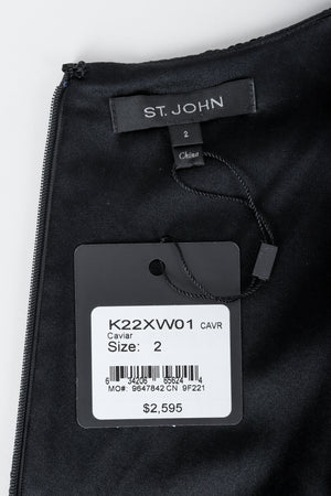 St. John label on black with original tags