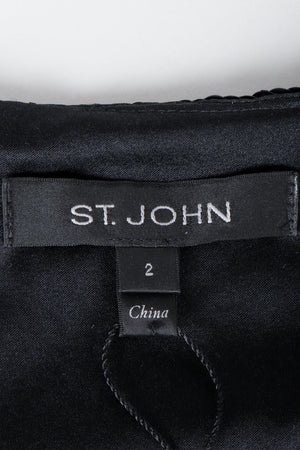 St. John Black label on black