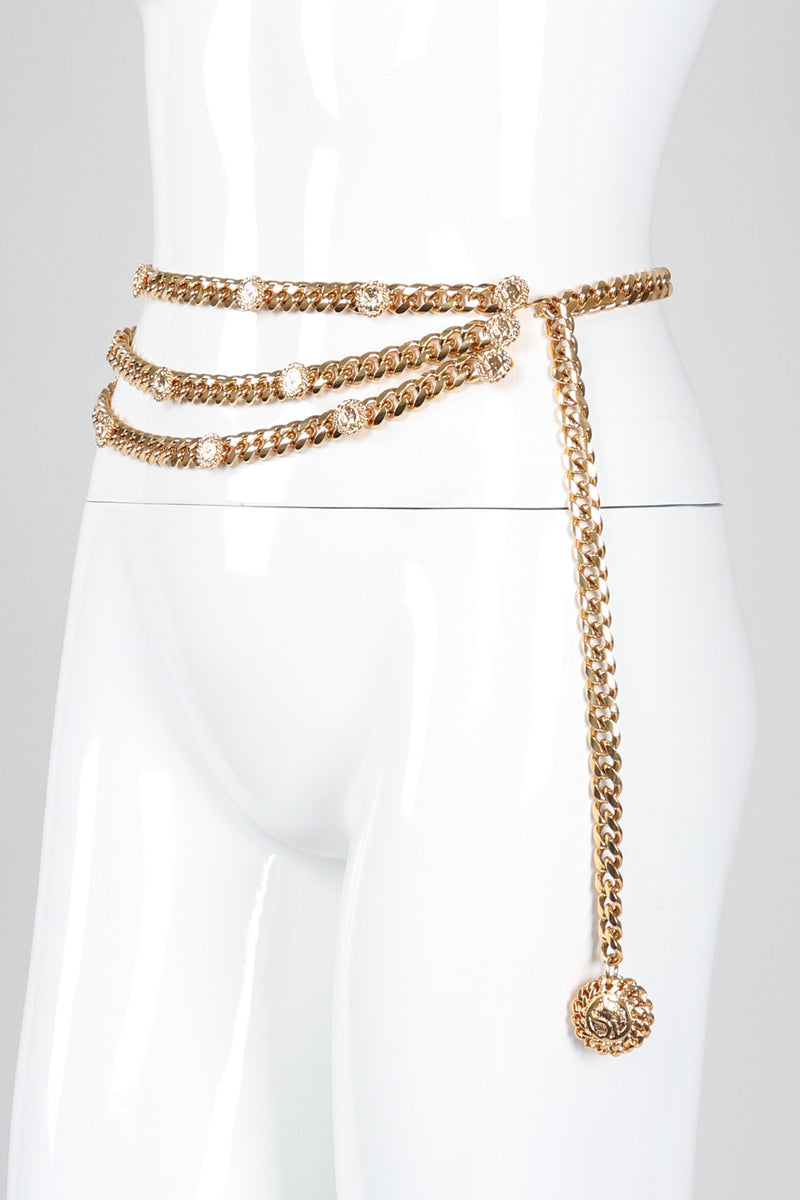 Recess Los Angeles Vintage St. John Chunky Triple-Strand Chain Belt