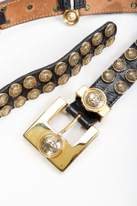 Vintage Streets Ahead Medusa Leather Pin Belt at Recess Los Angeles