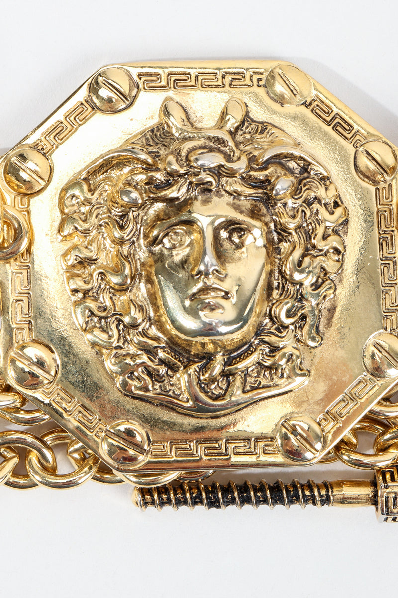 Vintage Streets Ahead Gold Medusa Medallion Detail at Recess