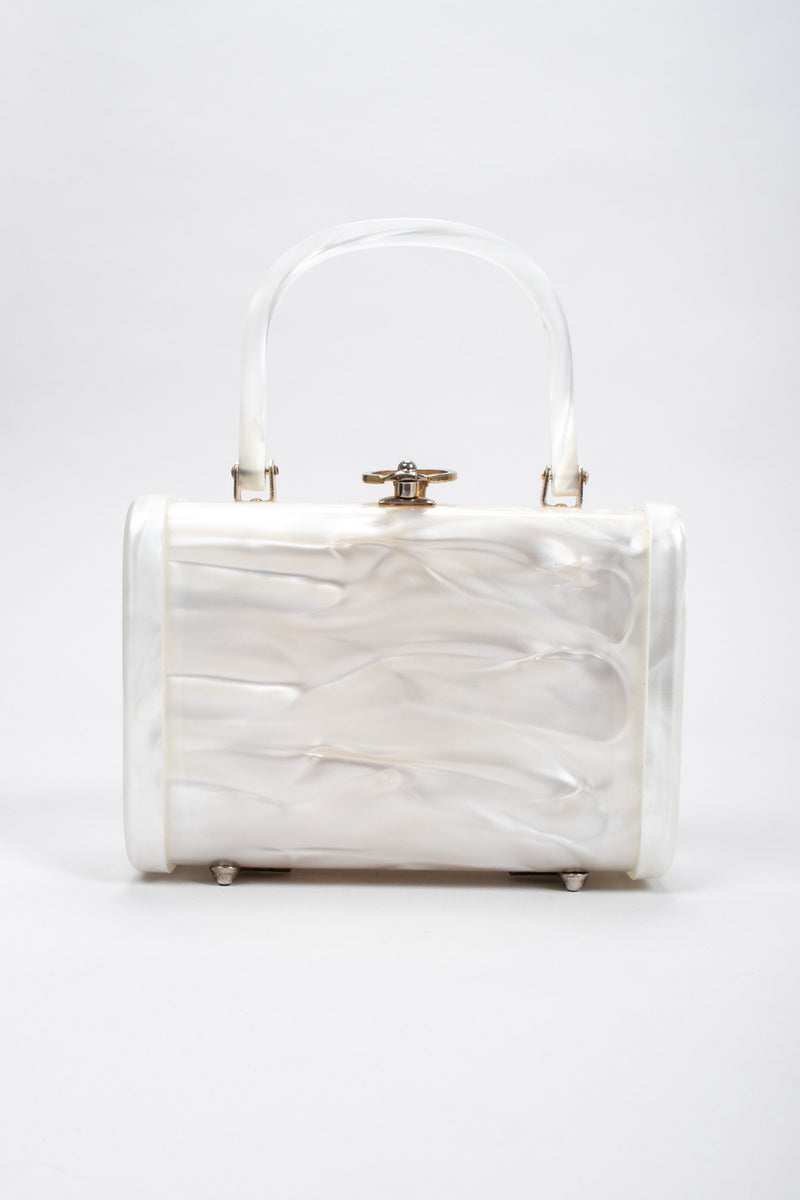 Recess Los Angeles Vintage Stylecraft Pearl Swirl Lucite Box Bag
