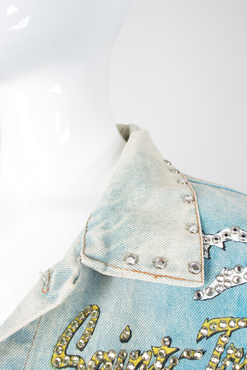 Tony Alamo Vive la Saint Tropez Embellished Denim Jacket