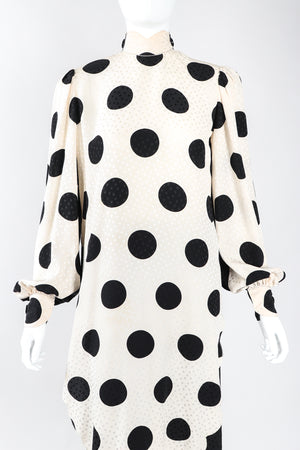 Scalloped Dot Dress