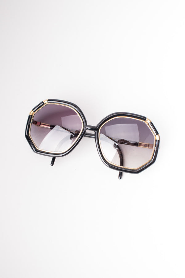 Ted Lapidus Iconic 1970s Oversized Octagonal Sunglasses