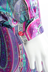 Vintage Silk Farm Sheer Paisley Blouse & Skirt Set on Mannequin cuff at Recess Los Angeles