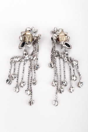 Recess Los Angeles Vintage The Show Must Go On Crystal Waterfall Fringe Chandelier Drop Earrings