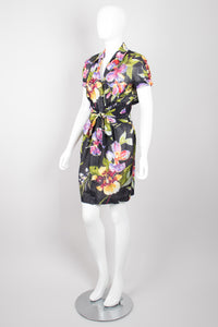 Thierry Mugler Floral Tie-Front Dress
