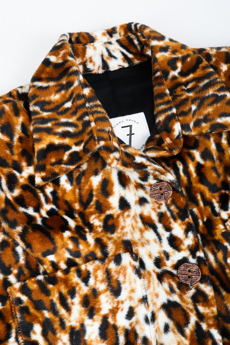 Vintage Todd Oldham Times Seven Faux Leopard Fur Jacket Collar Detail at Recess