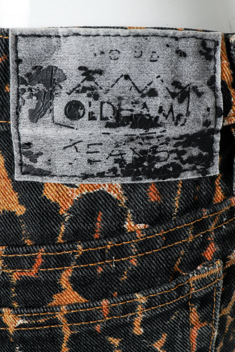 Recess Vintage Todd Oldham Leopard Print Jean Back Patch Label