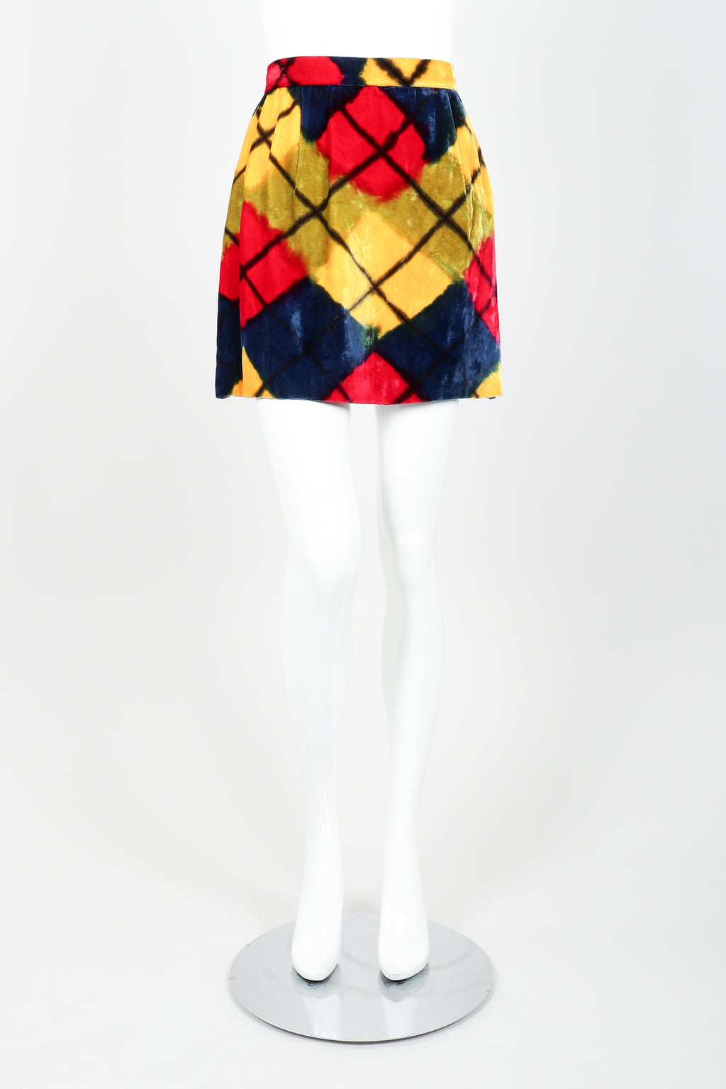 Vintage Todd Oldham Velour Mini Skirt Front at Recess