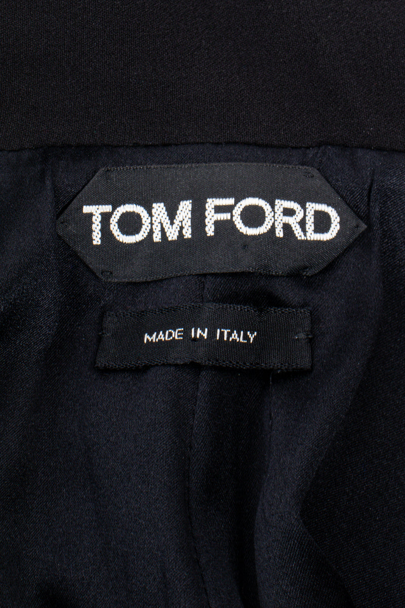 Vintage Tom Ford AW 2012 Plunge Back Zipper Gown label at Recess Los Angeles