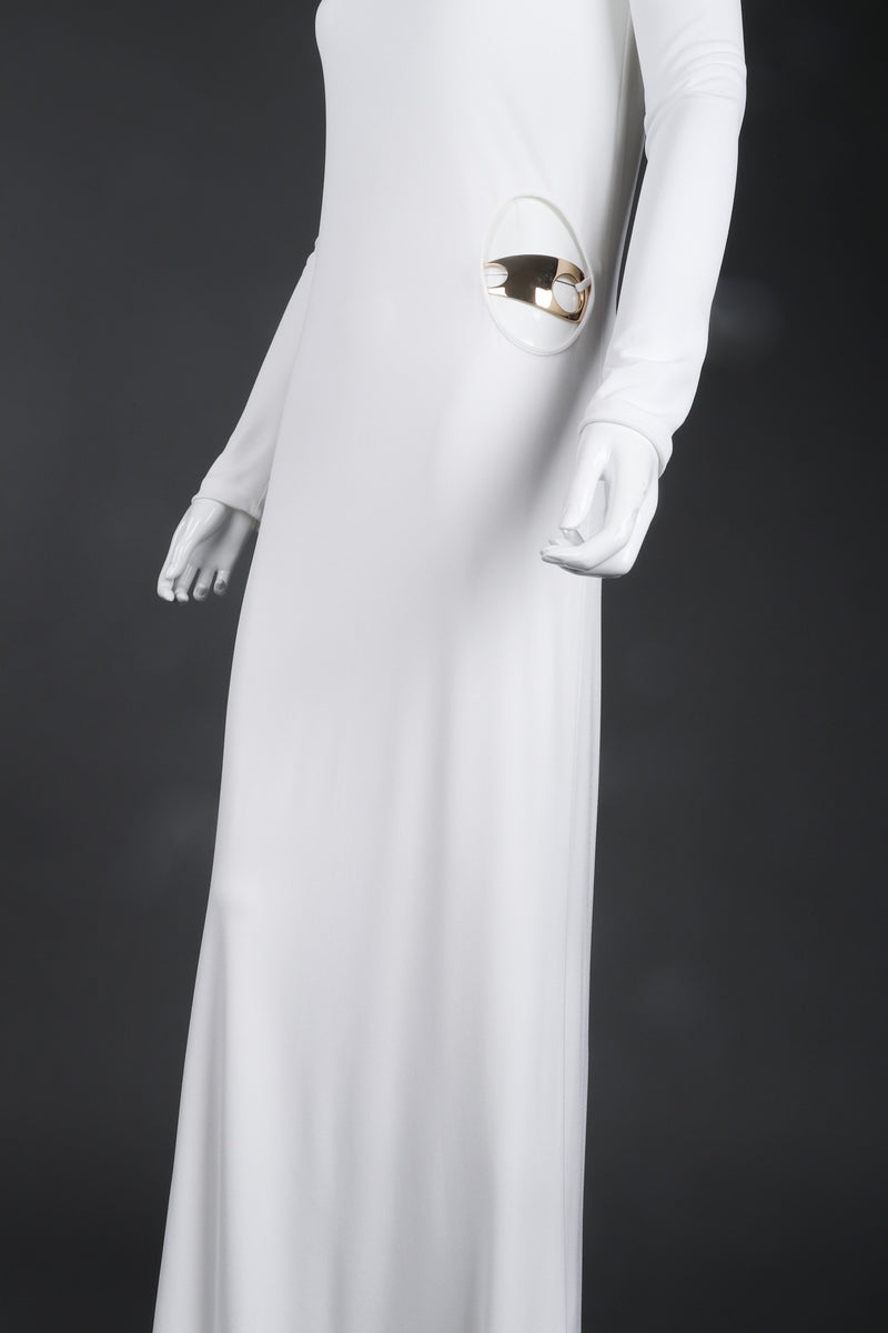 a3c327d80 Recess Los Angeles Vintage Gucci Tom Ford 1996 Cutout White Era Jersey Belt  Gown