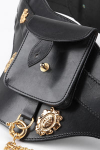 Recess Los Angeles Vintage Ugo Correani Leather Chain Holster Corset Belt