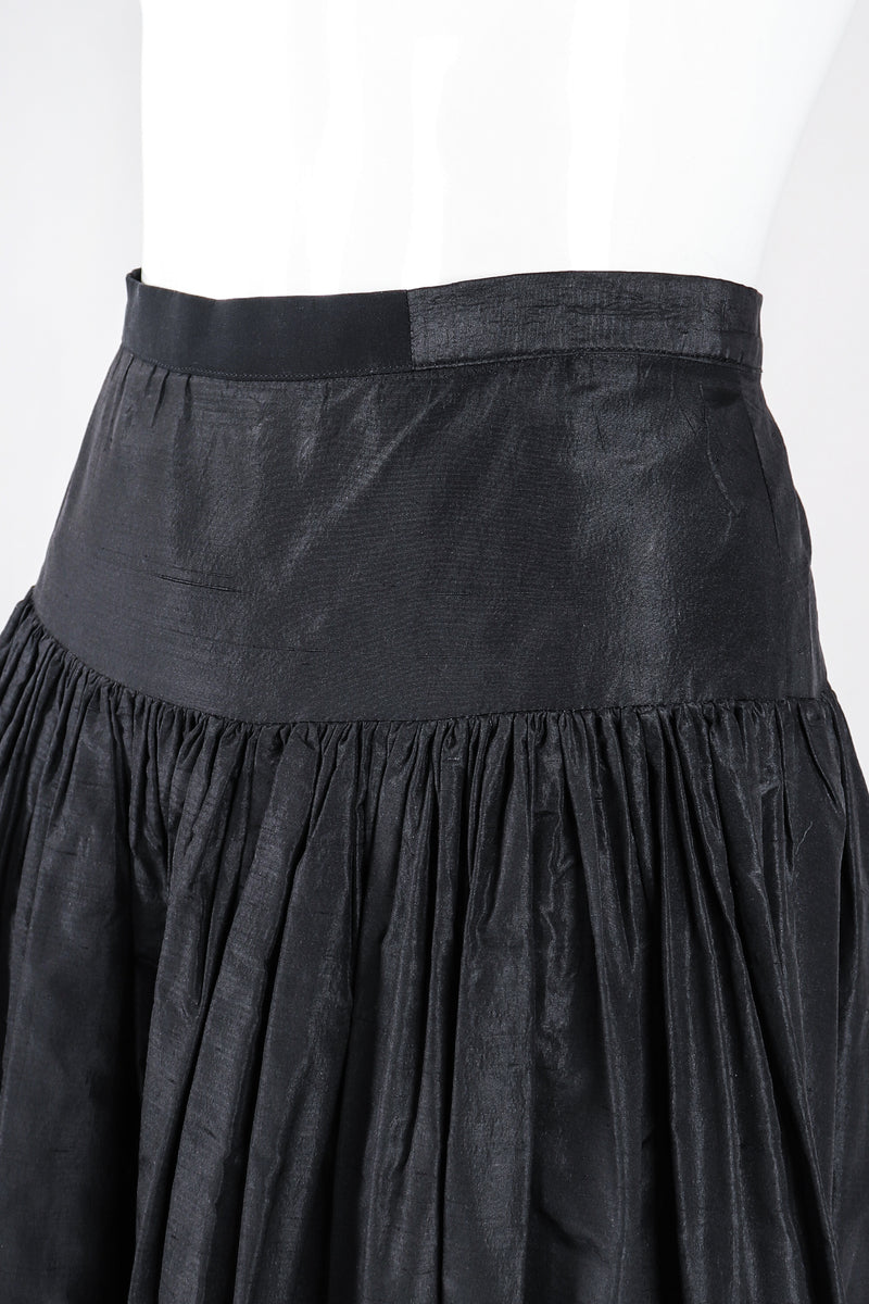 Recess Los Angeles Designer Consignment Resale Recycle Vintage Valentino Taffeta Palazzo Skirt Pant