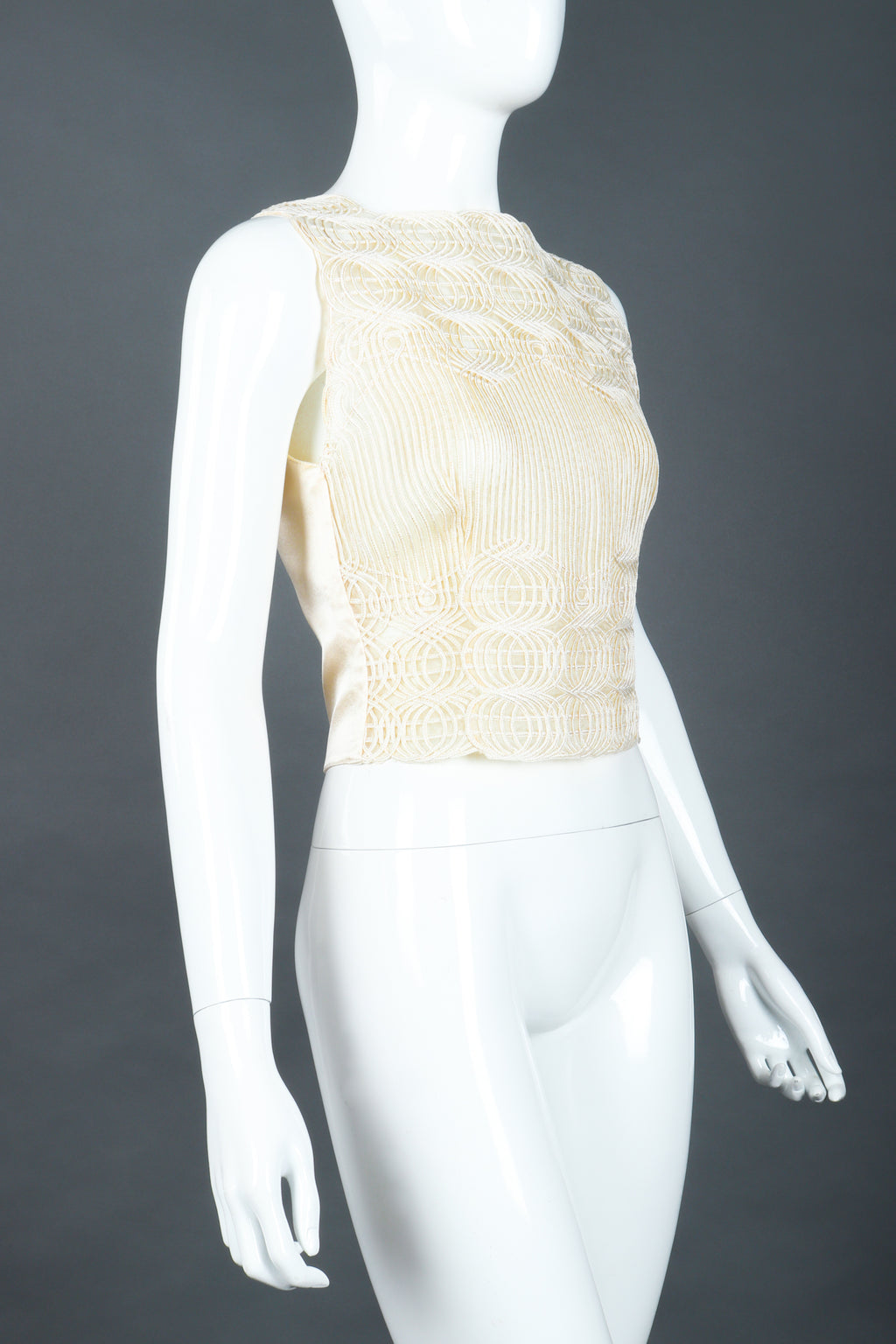 Vintage Valentino Embroidered Overlay Shell Top at Recess LA