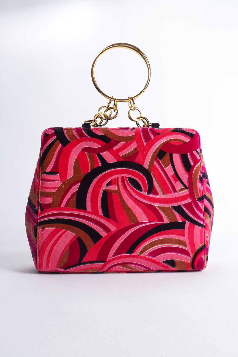 Vintage Gianni Versace Velvet Swirl O-Ring Bag Back at Recess Los Angeles