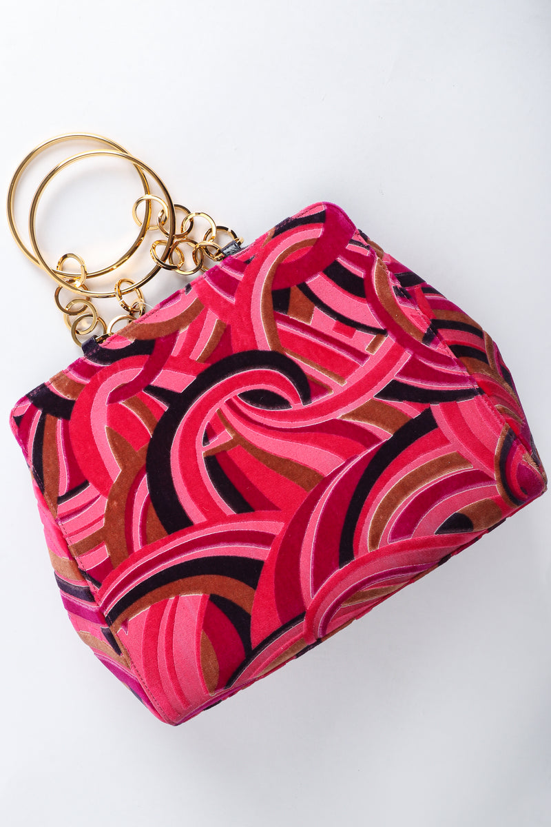 Vintage Gianni Versace Velvet Swirl O-Ring Bag at Recess Los Angeles