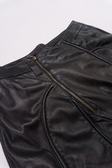 Gianni Versace Vintage Leather Moto Zipper Pant