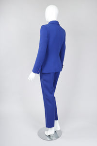 Recess Los Angeles Vintage Gianni Versace Majorelle Blue Jacket & Pant Suit