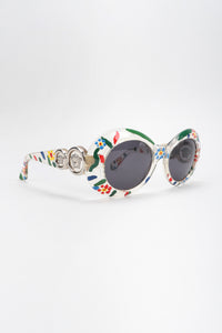 Recess Los Angeles Vintage Gianni Versace Handpainted Daisy MOD.418 COL.C1D Sunglasses