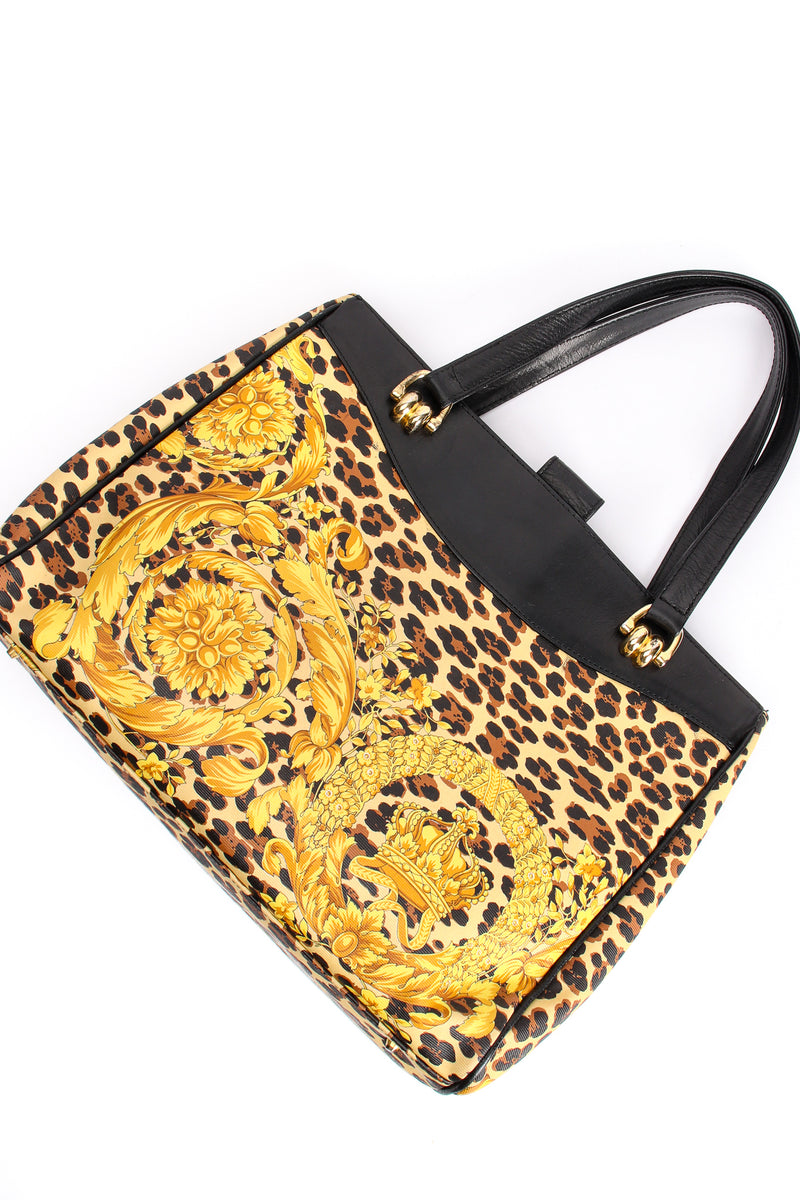 Vintage Gianni Versace Baroque Leopard Print Tote at Recess Los Angeles
