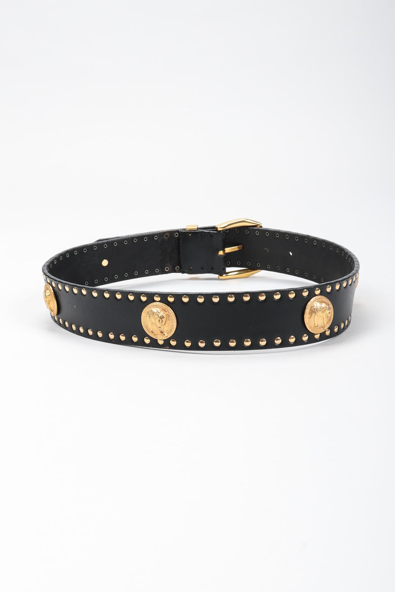 Recess Los Angeles Vintage Versus Versace Jaguar Studded Leather Belt