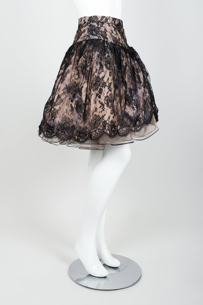 Vintage Vicky Tiel Lace Pouf Miniskirt on Mannequin side at Recess Los Angeles