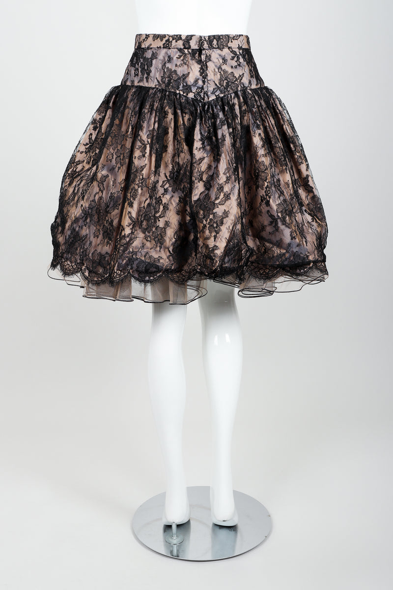 Vintage Vicky Tiel Lace Pouf Miniskirt on Mannequin back at Recess Los Angeles