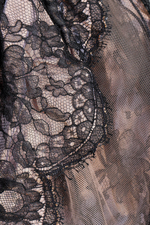 Vintage Vicky Tiel Lace Pouf Miniskirt on Mannequin fabric detail at Recess Los Angeles