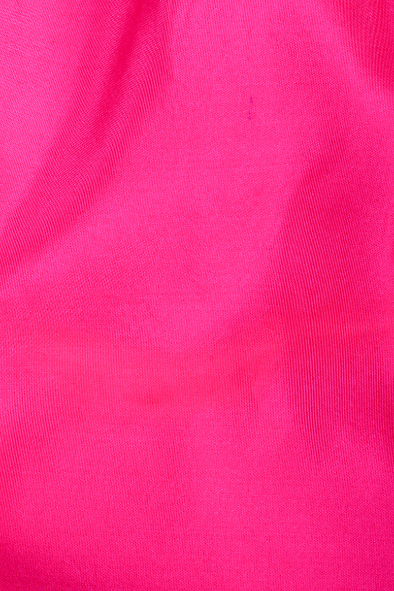 Vintage Vicky Tiel Hot Neon Ruched Cocktail Dress stain