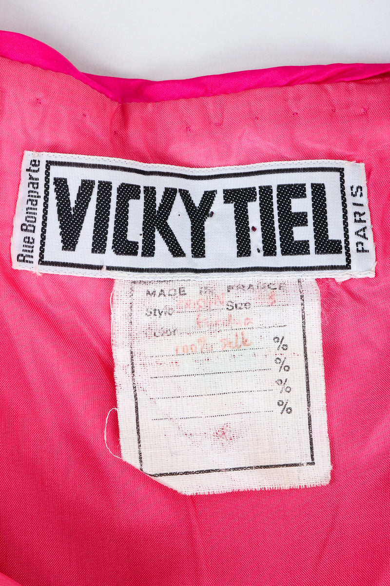 Vintage Vicky Tiel label on hot pink