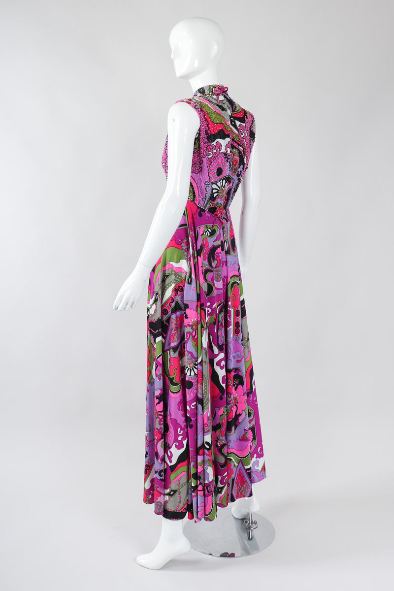 Recess Los Angeles Vintage Victoria Royal Psychedelic Pucci Inspired Wide Leg Jumpsuit