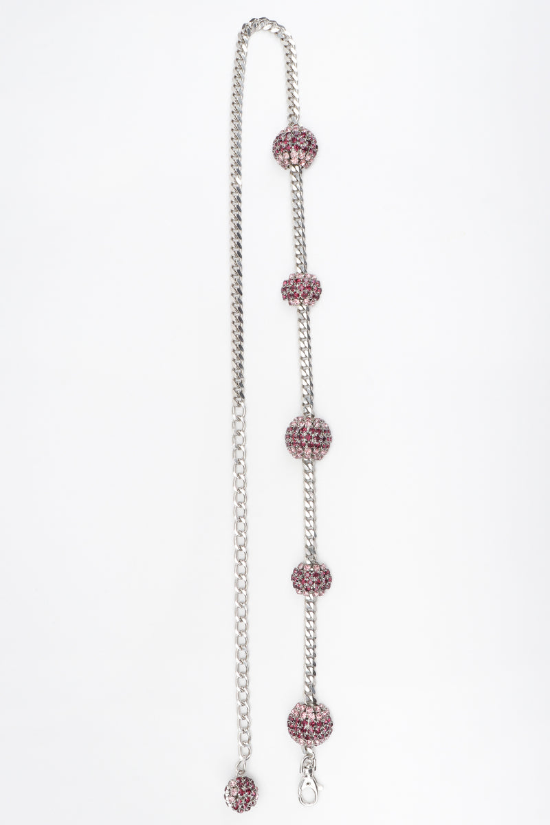 Recess Los Angeles Vintage Vitanuova Rhinestone Ball Chain Orbit Belt