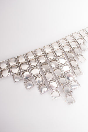 Vogue Jewelry Vintage Faceted Silver Stone Art Deco Step Choker