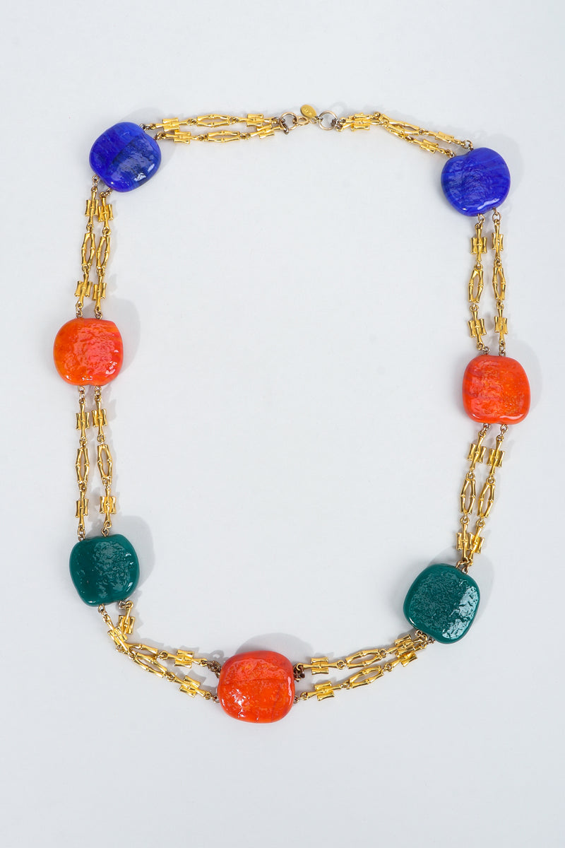 Vintage William de Lillo Hopscotch Stone Chain Necklace at Recess Los Angeles