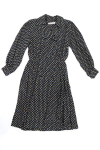 Yves Saint Laurent Silk Polka Dot Coat Dress