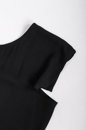 Recess Los Angeles Vintage Yohji Yamamoto Long Black Maxi Dress Peek-A-Boo