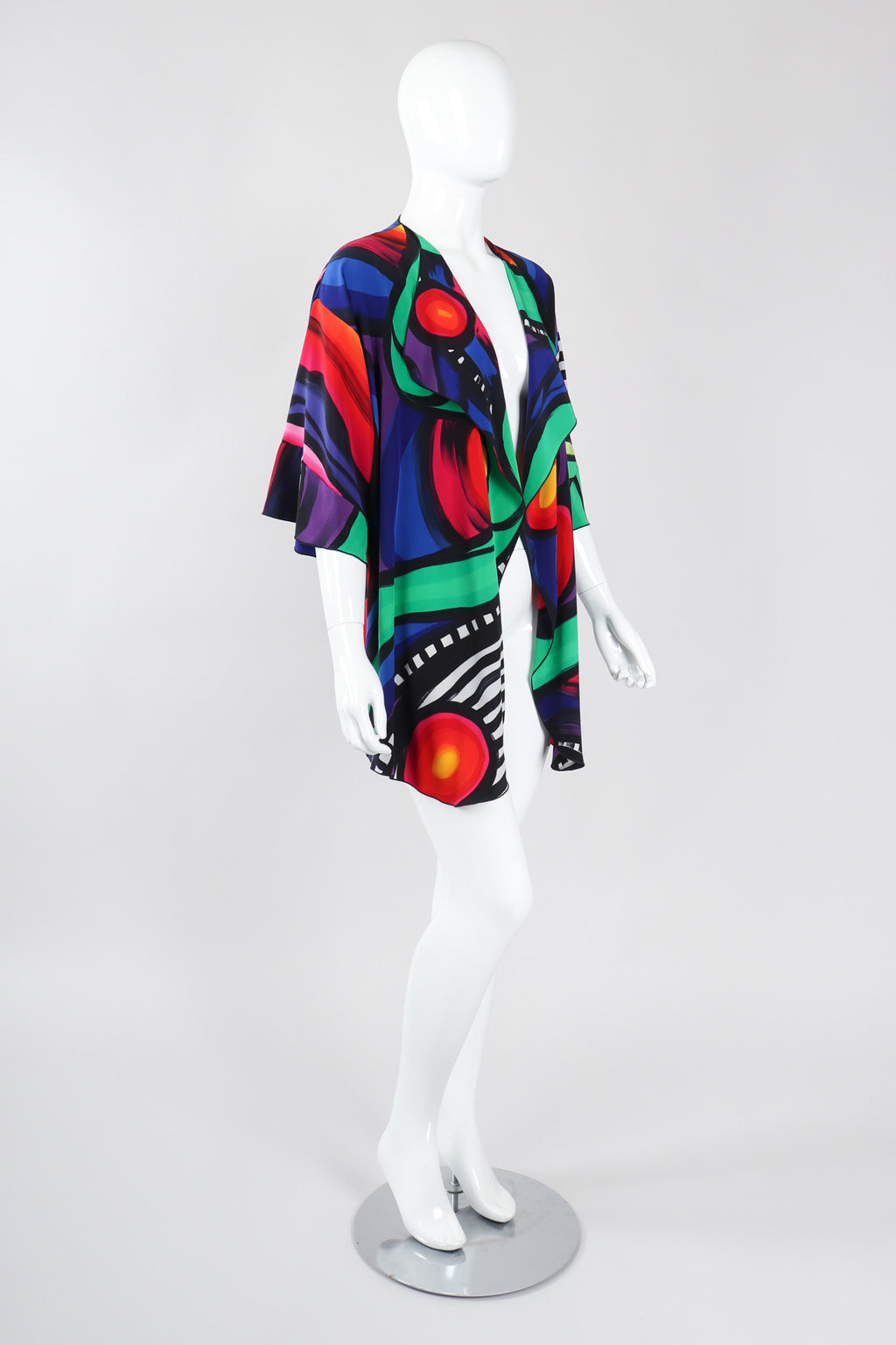 Recess Los Angeles Vintage Yolanda Lorente Abstract Hand Painted Silk Jacket