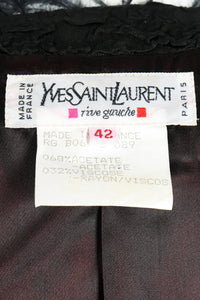 Vintage Yves Saint Laurent YSL Ostrich Feather Crinkle Coat label at Recess LA